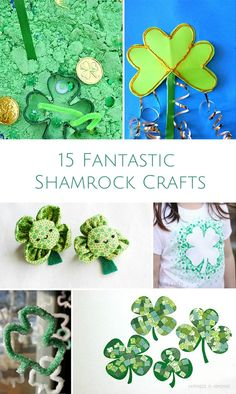 Fun and simple shamrock crafts to celebrate St. Patrick's Day!