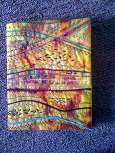 "journal cover - via @Craftsy ""Stupendous Stitching"" class. Nice way to embellish with combo stitches and fibers."