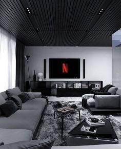 Black Bedroom Design, Home Room Design, Dream Home Design, Modern House Design, Home Interior Design, Living Room Designs, Dream House Interior, Dream Rooms, Luxurious Bedrooms