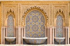 "Amazon.com - $70  DECAL  Typical Moroccan Tiled Fountain in the City of Rabat, near the H - 48""W x 32""H - Peel and Stick Wall Decal by Wallmonkeys - Wal..."