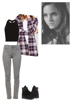 """Untitled #104"" by rosewaltman ❤ liked on Polyvore featuring J Brand, Alice + Olivia, Timberland and Emma Watson"