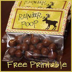 reindeer poop printable