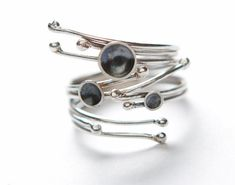 """sterling silver ring - statement ring  - """"melting snow"""" handmade by lolide"""