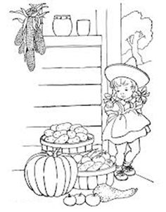 Fairy tale crafts on pinterest tinkerbell party three for Country girl coloring pages