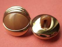 10 kleine Knöpfe braun gold 13mm (2389-5) Knopf
