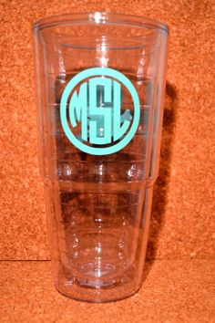 Personalized Monogram Tumblr with Sorority Symbol (acrylic double wall) on Etsy, $9.00