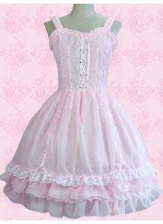 Sleeveless Ruffles Lace Cotton Sweet Lolita Dress