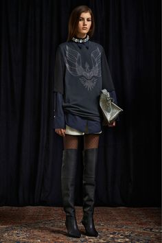 Phillip Lim Pre-Fall 2013: love love love over-the-knee boots with the high/low combination.