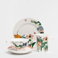 Conjunto chá porcelana flores - Café e Chá - Mesa | Zara Home Brasil