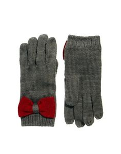 Image 1 of ASOS Touch Screen Bow Glove