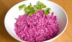 Cviklový šalát s jablkami Cabbage, Grains, Food And Drink, Rice, Vegetables, Cabbages, Vegetable Recipes, Seeds, Laughter