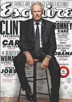 Esquire magazine Clint Eastwood Steve Jobs Morena Baccarin Cars Teller Fashion