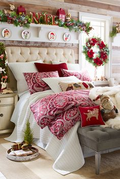 Whether you plan on being awakened by prancing reindeer hooves or a visit from a Christmas ghost, you'll probably sleep better Christmas Eve if your bedroom is decked out in holiday style. Get yours ready for sweet Christmas dreams with plenty of great finds from Pier 1. But we're not so sure about visions of sugar plums. We're partial to cookies and chocolate!