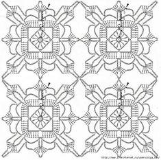 Trendy Ideas For Crochet Blanket Edging Tutorial Hooks Crochet Blanket Edging, Crochet Motif Patterns, Crochet Diagram, Crochet Squares, Crochet Granny, Irish Crochet, Crochet Designs, Crochet Stitches, Crochet Table Runner