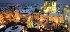 Prague is one of Europe's biggest travel destinations, and you'll figure out why quickly! We've put together a list of things to do that won't cost a thing. Prague Christmas Market, Christmas Markets Europe, Christmas Town, Christmas Travel, Christmas Destinations, Prague Holidays, White Christmas, Vienna Christmas, Wayfarer