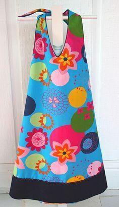 "Aimee-Bonnie Blue pattern    Fabric Finder's dress. Pattern is Aimee-Bonnie Blue.Added a 3"" hem band"