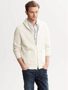 Shawl-Collar Patch-Pocket Sweater | Banana Republic