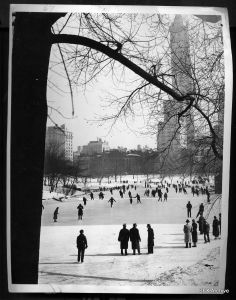 Vintage 1938 59th Street Ice Skating Scene New York City Press Photo | eBay