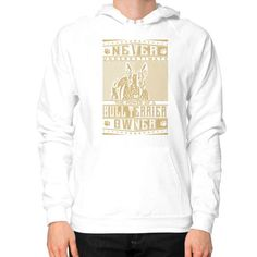 Never underestimate the power of a Bull Terrier Owner Hoodie (on man)