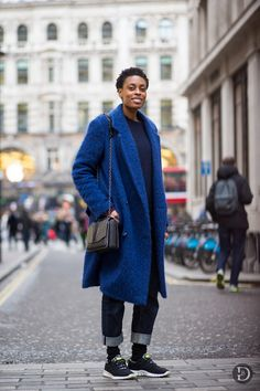 Donna Wallace. That cobalt blue fluffy coat!