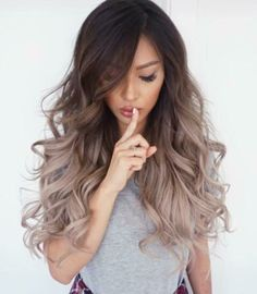New hair goals brunette balayage Ideas Ombré Hair, Bad Hair, Hair Dos, Curls Hair, Waves Curls, Frizzy Hair, Ombre Hair Long Bob, Asian Ombre Hair, Asian Hair