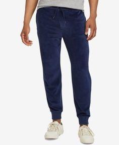Polo Ralph Lauren Men s Velour Jogger Pants, A Macy s Exclusive Style -  Cruise Navy XS bfc942cfbea7
