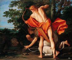 Apollo and Diana slay the Python. 1692-1792. Franceschini Marcantonio. Italian. 1648-1729. oil on canvas.