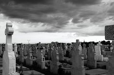 Cemeteries are a great place to think, they're always so quiet, except for the munching sound the worms make.