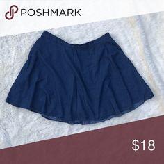 Selling this Forever 21 Plus Size Chambray Circle Skirt on Poshmark! My username is: radtrash. #shopmycloset #poshmark #fashion #shopping #style #forsale #Forever 21 #Dresses & Skirts