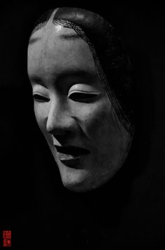 """This mask is a Japanese """"Noh mask"""". It is a mask used in noh theater and some forms of kagura (Japanese traditional musical dance). Japanese Tattoo Designs, Japanese Tattoo Art, Japanese Demon Mask, Mask Face Paint, Noh Theatre, Oni Mask, Traditional Japanese Art, Japanese Folklore, Japan Tattoo"""