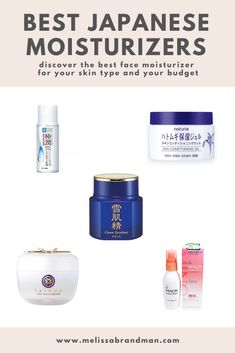 Discover the best Japanese moisturizer for your skin type and budget. All available on Amazon for easy shopping! Skincare For Oily Skin, Tips For Oily Skin, Drugstore Skincare, Best Skincare Products, Best Face Products, Beauty Products, Organic Skin Care, Natural Skin Care, Skinny Margarita