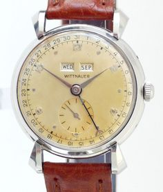 wittnauer-triple-date-vintage-calendar-watch Sale! Up to 75% OFF! Shop at Stylizio for women's and men's designer handbags, luxury sunglasses, watches, jewelry, purses, wallets, clothes, underwear