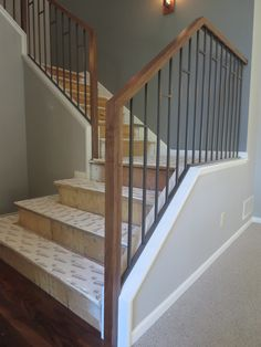 Iron Stair Railing Interior Indoor Iron Railings Interior Railings Ornamental Iron Stair Railing Iron Interiors And Staircases Interior Iron Stair Interior Metal Stair Railing Kits Indoor Stair Railing, Interior Stair Railing, Metal Stair Railing, Stair Railing Design, Stair Decor, Staircase Railings, Iron Railings, Banisters, Handrail Ideas
