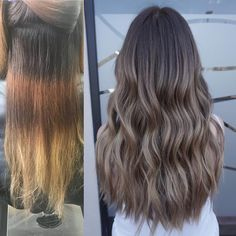"1,898 Likes, 11 Comments - Justin Tai Kieu (@taitkieuapril05) on Instagram: ""Before and after Balayage and babylights to get rid of bands Color done by me and Joey…"""