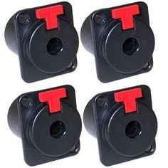 """GLS Audio 1/4"""" Jacks TS and TRS Panel Mount Jack Locking Style D Series Size - 4 Pack by GLS Audio. Save 45 Off!. $11.99. We are offering these new Professional Series Female Locking 1/4"""" Panel Jacks by GLS Audio. These jacks can be used in both Mono TS and Stereo TRS applications. They have a red plastic button that locks. The GLS Audio Jacks are comparable to Switchcraft and Neutrik, but the GLS Audio price is MUCH BETTER!"""