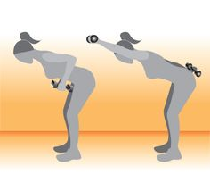 The Boxer Works: Lat, triceps, mid backStand with your feet hip distance apart and bend your elbows back, keeping your upper arm even with your back and bring weights to your upper waist. Bend your knees, coming into a half squat