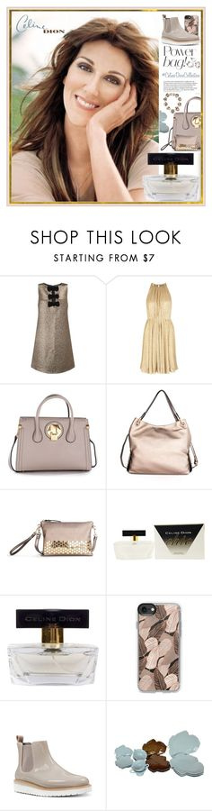 """""""#CelineDionCollection"""" by yours-styling-best-friend ❤ liked on Polyvore featuring Miss Selfridge, Halston Heritage, CÉLINE, Balmain, Casetify, Nine West and Global Views"""