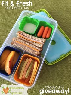 Fit and Fresh Kids Bento Box review and giveaway from Green Lunches, Green Kids @FitFresh