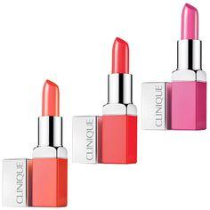 Beauté : Notre sélection shopping de maquillage pop coloré pastel colorblock de l'été -  Rouges à lèvres lipsticks Clinique rose orange corail http://www.vogue.fr/beaute/shopping/diaporama/make-up-pop/20890/carrousel
