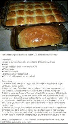 Homemade King Hawaiian Rolls & Loaf