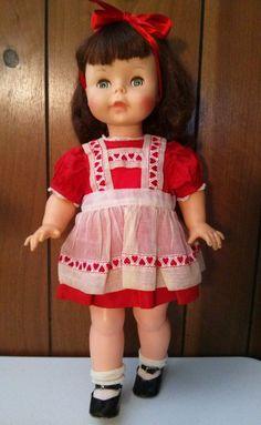 "Effanbee Suzie Sunshine doll. 18"". Marked EFFANBEE 1961 on back of head. Original clothes. Z"