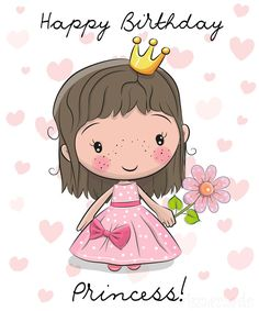 Happy Birthday Daughter Wishes, Free Happy Birthday Cards, Happy Birthday Wishes Images, Happy Birthday Funny, Happy Birthday Greetings, Daughter Birthday, Princess Birthday, Happy Birthday For Kids, Happy Wishes
