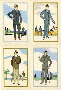 '20s men's fashion illustrations