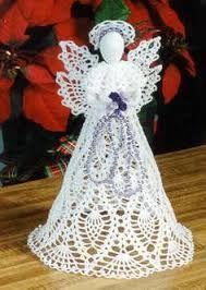 Resultado de imagem para anjos de natal em croche