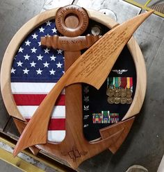 Navy Counselor NC Shadow Box Flag Display Case, Shadow Box Display Case, Diy Shadow Box, Wood Projects, Woodworking Projects, Retirement Gifts, Military Retirement, Military Shadow Box, War Medals