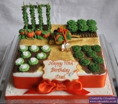 Allotment Garden Cake what a cute birthday cake for a gardner