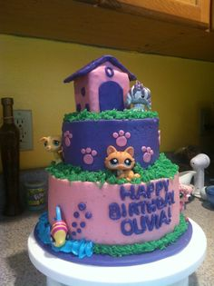 Littlest pet shop- a cake made by my friend, Heather Jukes.