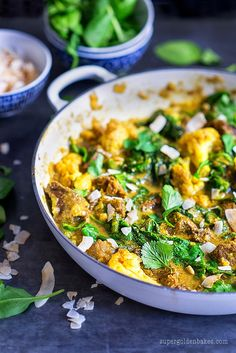 One-pot beef curry with spinach & cauliflower (Paleo, low-carb) | Supergolden Bakes