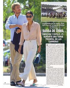 Alessandra de Osma and her husband Prince Christian of Hannover Looks Street Style, Street Style Summer, Ernst August, Spanish Woman, Tomboy Chic, Summer Lookbook, Looks Chic, Fashion Couple, Professional Outfits