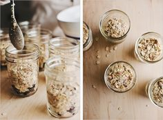 How-to: Homemade baked blueberry oatmeal recipe in mason jars. Thoughtful gift for mom...or anyone.